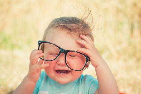 toddler wearing eyeglasses